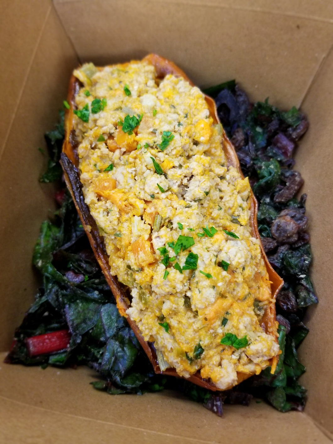 Stuffed Sweet Potato with Turkey
