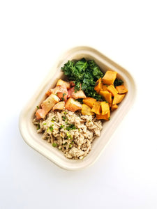 Turkey Apple and Sweet Potato Bowl