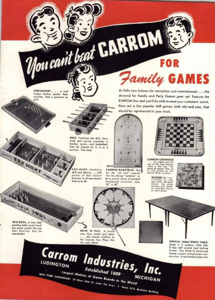 carrom old timey ad