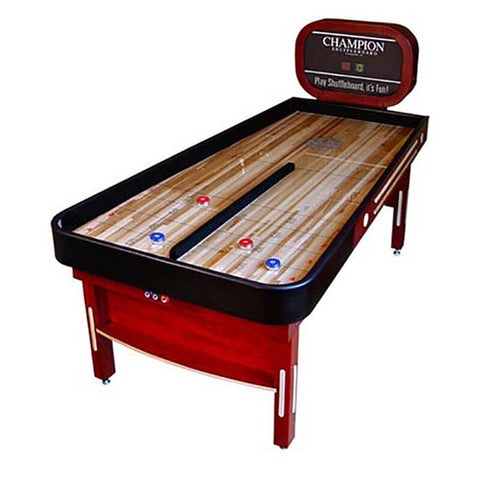 Champion Shuffleboard: Shown the Bank Shot Shuffleboard Table