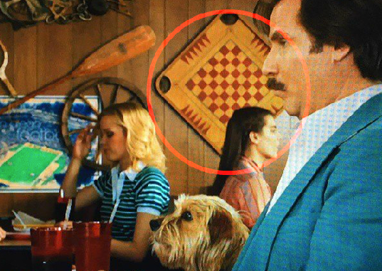Carrom gameboard displayed in Anchorman movie