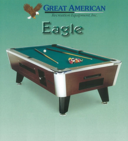 Great American Pool Table Mahogany & Green
