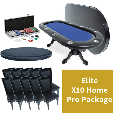 BBO Poker Table X10 Home Pro Package