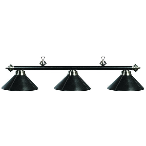 "Image of 3 LT-54"" Billiard Light-Leather/Black"