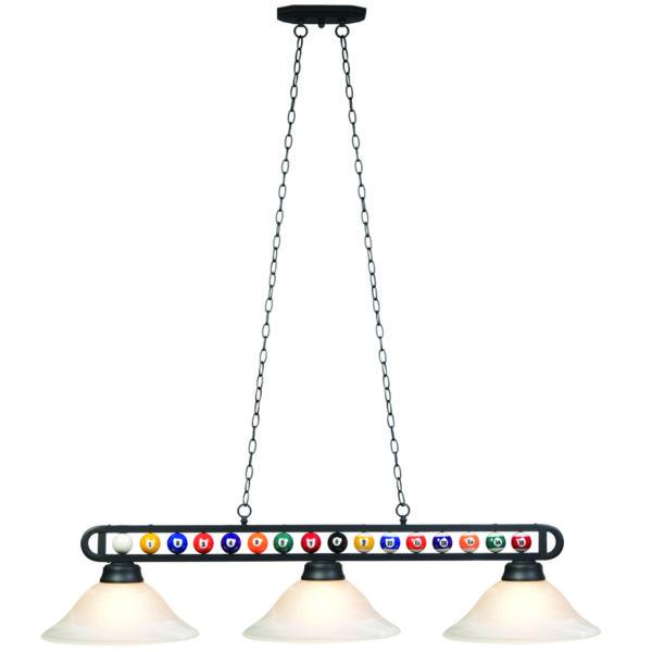 "RAM Game Room 55"" Billiard/Pool Ball 3 Light Fixture"