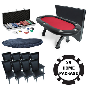 BBO Poker Table X8 Home Pro Package