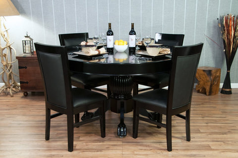 Image of Complete Set of 8 Black BBO Poker Table Chairs