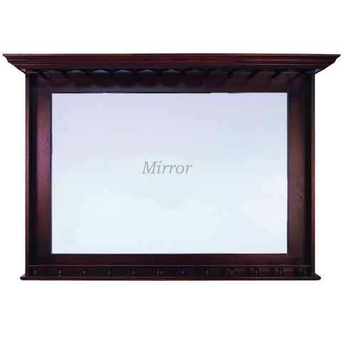 "Ram Game Room 52"" Bar Mirror With Stem Glass Holders"