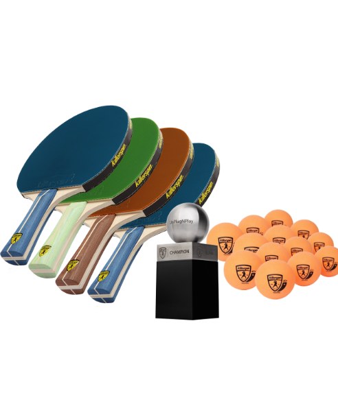 Killerspin MyT 4 Indoor Table Tennis Party Package