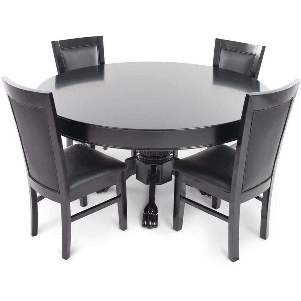 Complete Set of 8 Black BBO Poker Table Chairs