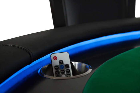 BBO Ginza Round LED Lit 8 Player Poker Table