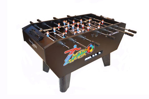 Image of Great American Action Foosball Game Table: As shown in brown non-coin option.