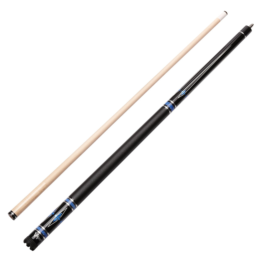 Viper Sinister Series Cue with Black Faux Leather Wrap