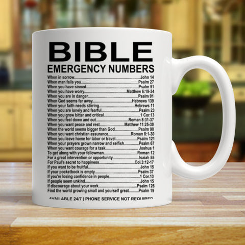 Image of Emergency Bible Numbers