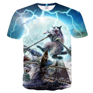 Rowboat Kitty Tee