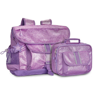 Large Sparkalicious Purple Backpack & Lunchbox Bundle - Bixbee