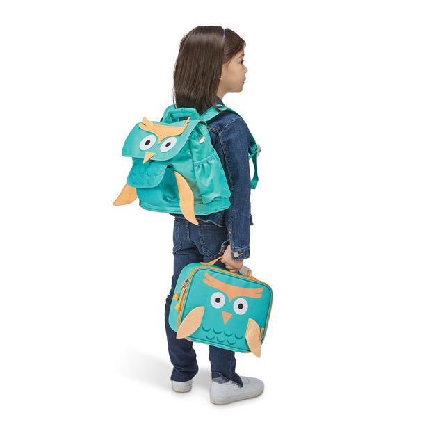 """Owl"" Backpack & Lunchbox Bundle - Bixbee"