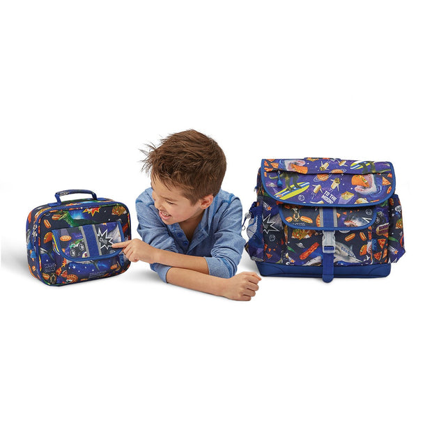 """Meme Space Odyssey"" Backpack & Lunchbox Bundle - Large - Bixbee"