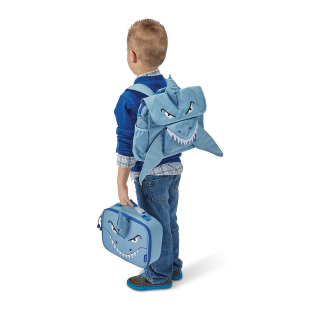 """Shark"" Backpack & Lunchbox Bundle - Bixbee"