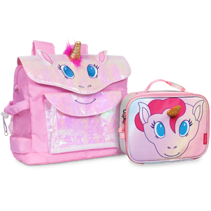 Medium Unicorn Pack & Lunchbox Bundle - Bixbee