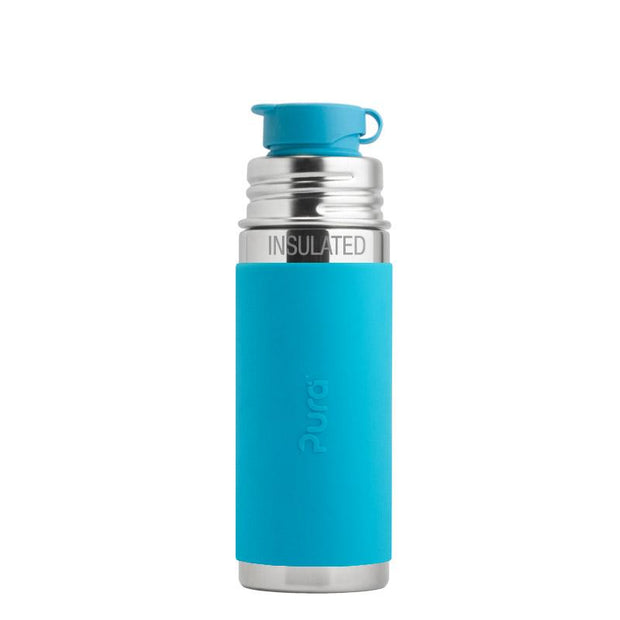 Pura 9oz Insulated Sport Mini Bottle Aqua - Bixbee