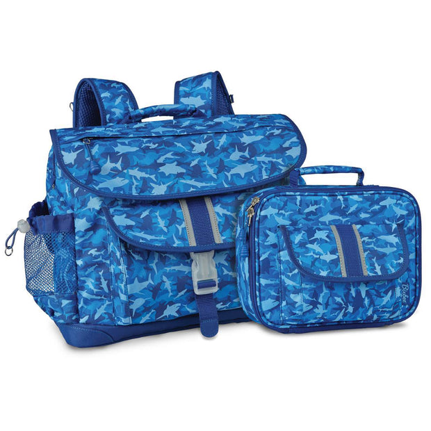 """Shark Camo"" Backpack & Lunchbox Bundle - Medium - Bixbee"