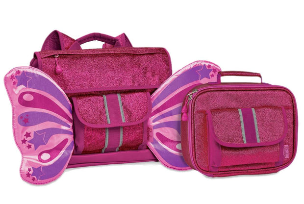 """Sparkalicious Ruby Butterflyer"" Backpack & Lunchbox Bundle - Small - Bixbee"