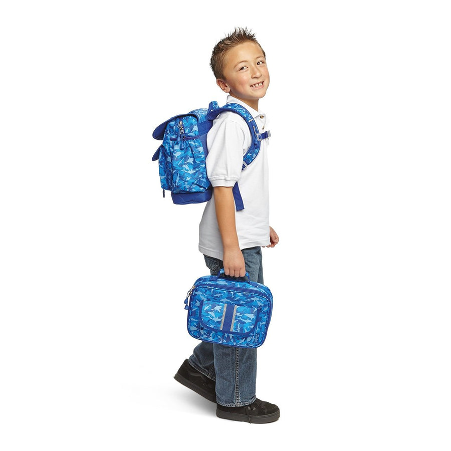 Large Shark Camo Backpack & Lunchbox Bundle