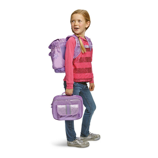 """Sparkalicious™ Purple"" Backpack & Lunchbox Bundle - Medium - Bixbee"