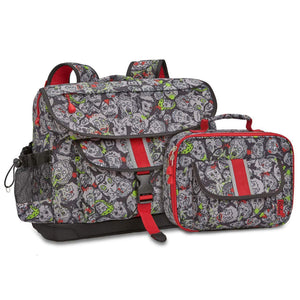 Large Zombie Camo Backpack & Lunchbox Bundle - Bixbee
