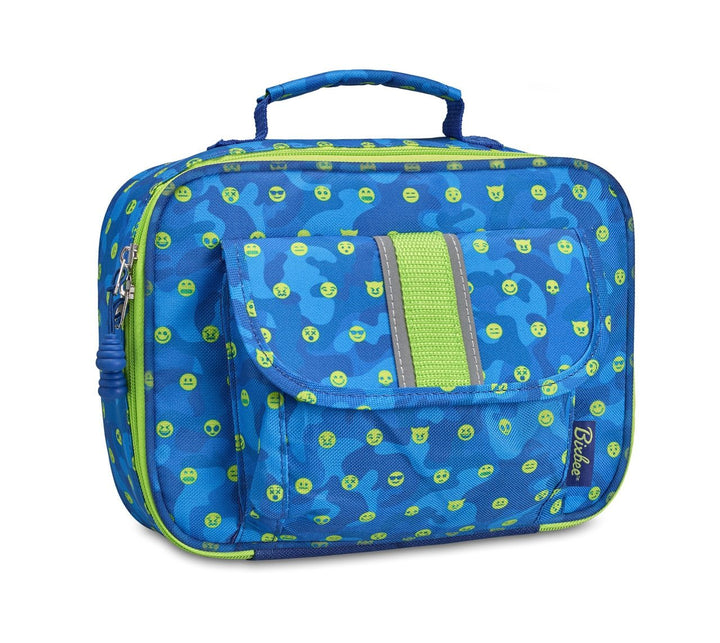 Bixbee EmotiCamo Kids Insulated Lunchbox - Blue - Bixbee