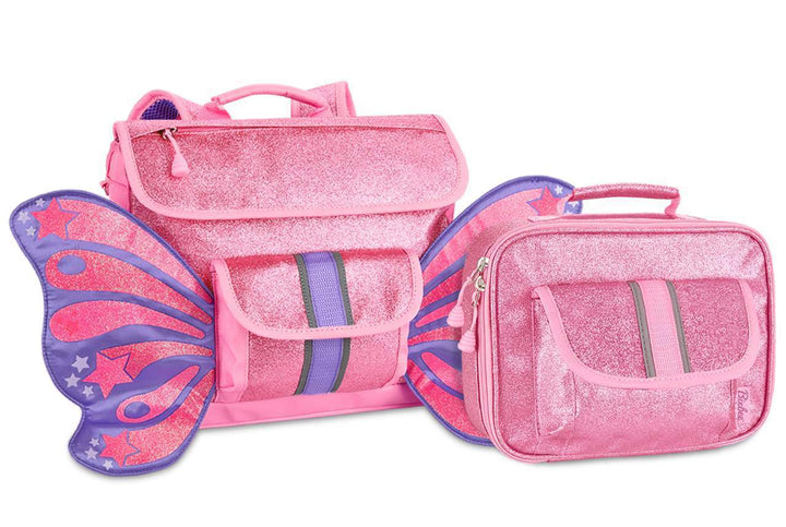 Small Sparkalicious Pink Butterflyer Backpack & Lunchbox Bundle - Bixbee