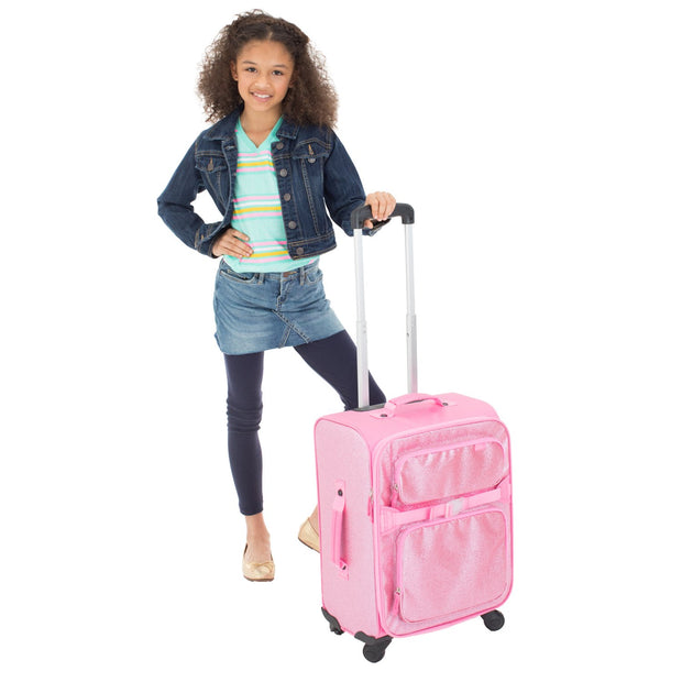 Sparkalicious Pink Young Traveler Luggage - Bixbee