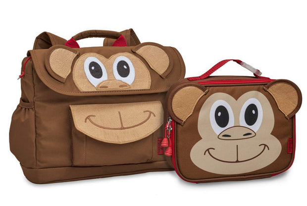 """Monkey"" Backpack  & Lunchbox Bundle - Bixbee"