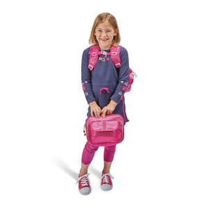 Large Sparkalicious Ruby Backpack & Lunchbox Bundle