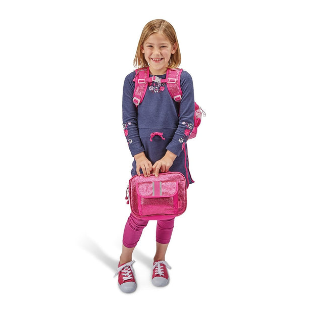 """Sparkalicious Ruby"" Backpack & Lunchbox Bundle - Medium - Bixbee"