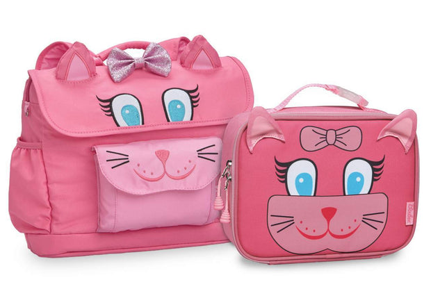 """Kitty"" Backpack & Lunchbox Bundle - Bixbee"
