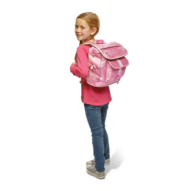 """Sparkalicious Pink"" Childrens Backpack & Lunchbox Bundle - Large - Bixbee"