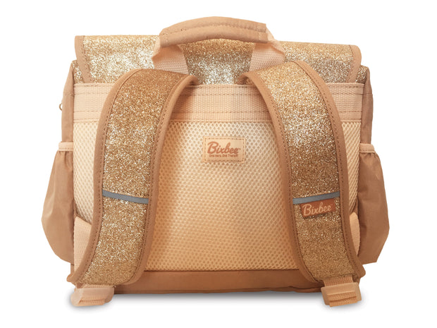 """Sparkalicious Gold"" Backpack for Children - Small - Bixbee"