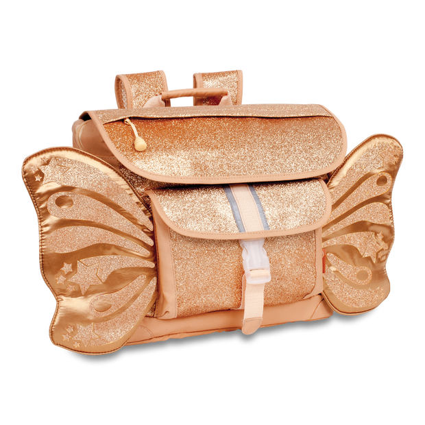 """Sparkalicious Gold Butterflyer"" Backpack & Lunchbox Bundle - Medium - Bixbee"