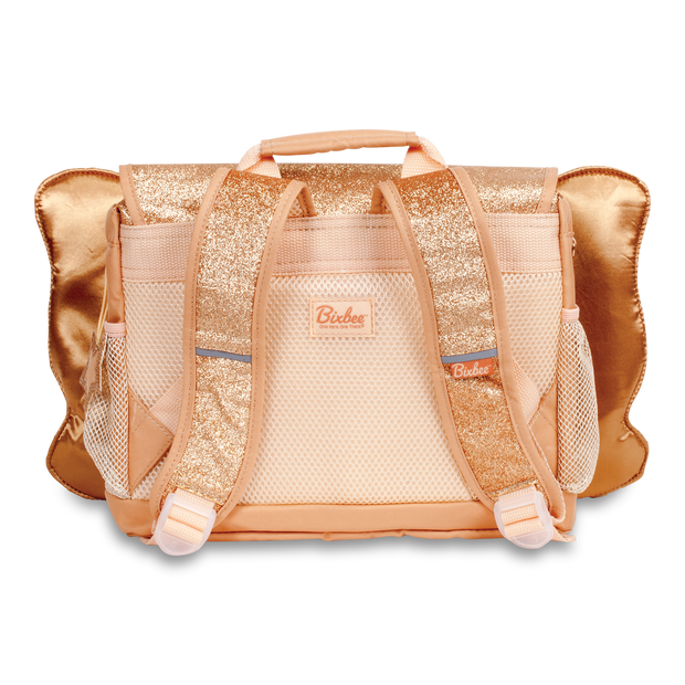 """Sparkalicious Butterflyer"" Backpack & Lunchbox Bundle - Gold Small - Bixbee"