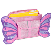 """Sparkalicious Butterflyer"" Backpack & Lunchbox Bundle - Pink Small - Bixbee"