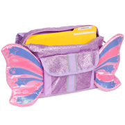 """Sparkalicious Butterflyer"" Backpack & Lunchbox Bundle - Purple Small - Bixbee"