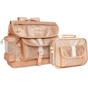 Medium Sparkalicious Gold Backpack & Lunchbox Bundle