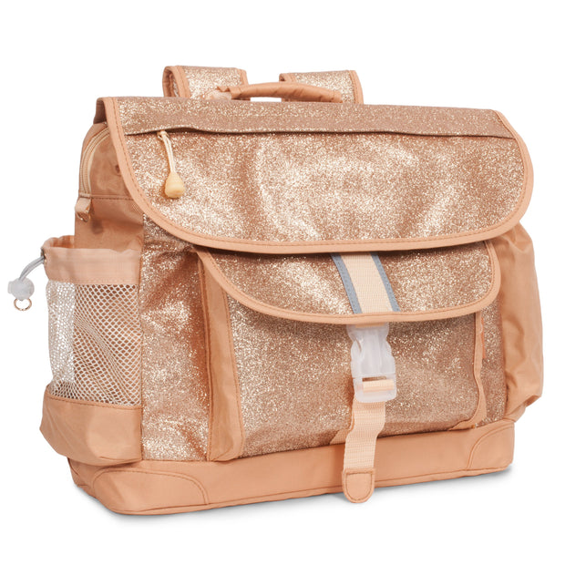 """Sparkalicious Gold"" Backpack & Lunchbox Bundle for Kids - Medium - Bixbee"