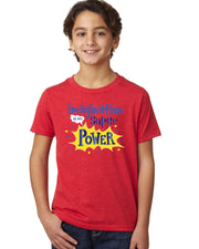 Imagination is My Super Power - Red T-Shirt Youth - Bixbee