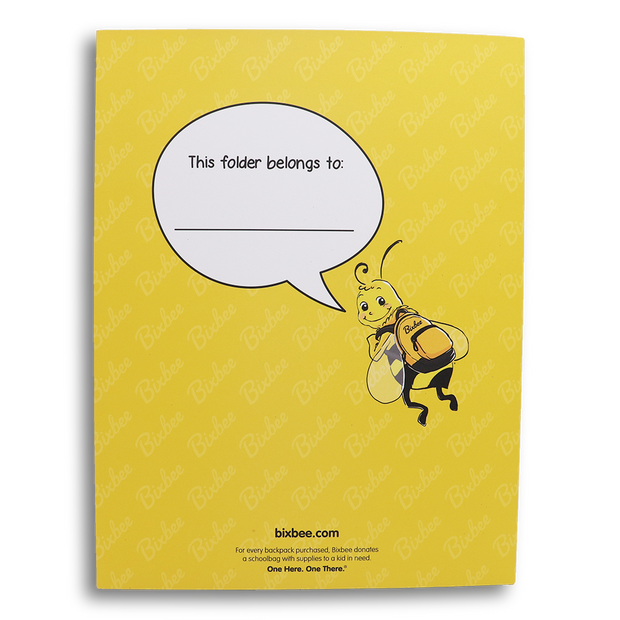 Bixbee Bee Folder - Perfect for Back To School - Bixbee