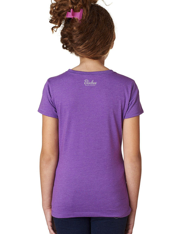 The Things That Make Different are the Things that Make Me Me - Purple T-Shirt Girls - Bixbee
