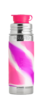 Pura 9oz Insulated Sport Mini Bottle Pink Swirl - Bixbee