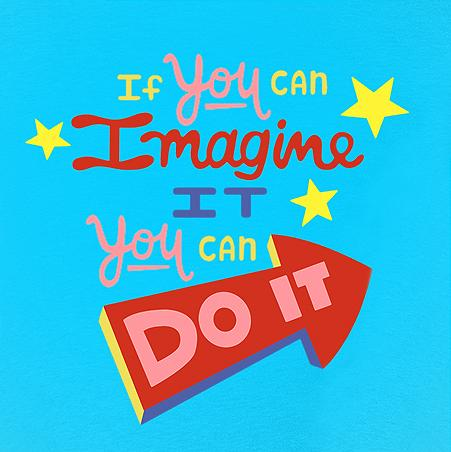 If You Can Imagine It You Can Do It - Light Blue T-Shirt Youth - Bixbee